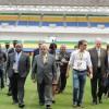 Actu de la CAN 2012 : Le Chef de l'Etat sur la pelouse du stade de l'amitié Sino-gabonaise